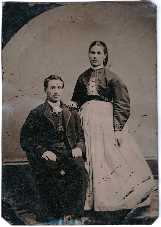 Timothy Adam and Odile Millette photograph, 1867, Springfield, Massachusetts; digital image 2013, privately held by Melanie Frick, 2013.