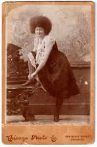 Ada Zingara photograph, ca. 1890s, Chicago, Illinois; digital image 2013, privately held by Melanie Frick, 2013.
