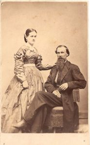 Unidentified photograph of couple, 1866; digital image 2012, privately held by Melanie Frick, 2013.