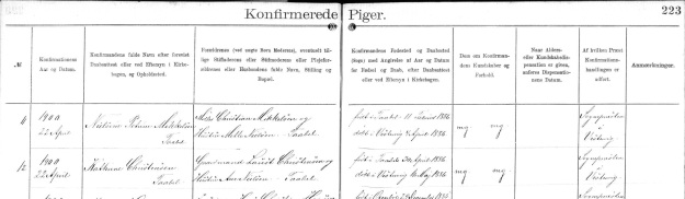 Kathrine Christensen Confirmation 1900